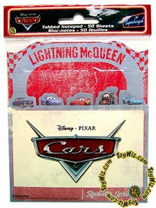 Disney / Pixar CARS Movie Accessory Tabbed Notepad
