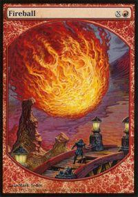 Magic the Gathering Textless Player Rewards Promo Card Fireball [Textless Player Rewards]