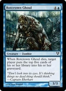 Magic the Gathering Avacyn Restored Single Card Blue Common #72 Rotcrown Ghoul