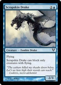 Magic the Gathering Avacyn Restored Single Card Blue Common #73 Scrapskin Drake