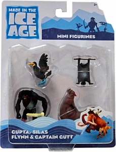Ice Age Continental Drift Movie Mini Figure 4-Pack [Gupta, Silas, Flynn & Captain Gutt]