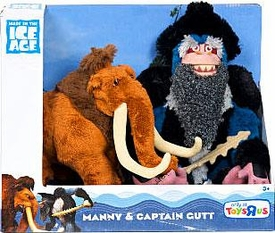 Ice Age Continental Drift Movie Plush 2-Pack Manny & Captain Gutt
