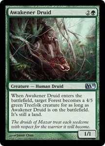 Magic the Gathering Magic 2011 (M11) Single Card Uncommon #163 Awakener Druid