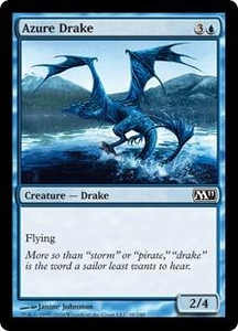Magic the Gathering Magic 2011 (M11) Single Card Common #46 Azure Drake