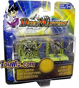 Duel Masters Collectible Mini Figures Urth the Purifying Elemental & Frei Apostle of Air