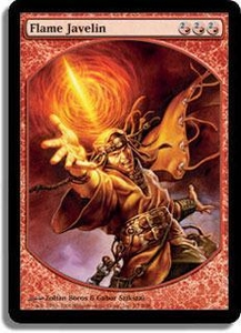 Magic the Gathering Textless Player Rewards Promo Card Flame Javelin [Textless Player Rewards]