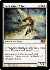 Magic the Gathering Magic 2011 (M11) Single Card Mythic Rare #7 Baneslayer Angel