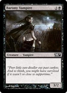 Magic the Gathering Magic 2011 (M11) Single Card Common #82 Barony Vampire