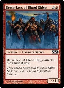 Magic the Gathering Magic 2011 (M11) Single Card Common #124 Berserkers of Blood Ridge