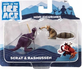 Ice Age Continental Drift Movie Mini Figure 2-Pack Scrat & Rasmussen