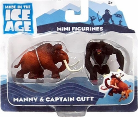 Ice Age Continental Drift Movie Mini Figure 2-Pack Manny & Captain Gutt