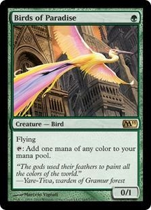 Magic the Gathering Magic 2011 (M11) Single Card Rare #165 Birds of Paradise