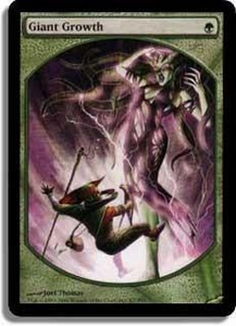 Magic the Gathering Textless Player Rewards Promo Card Giant Growth [Textless Player Rewards]
