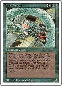 Magic the Gathering Revised Edition Single Card Common Craw Wurm