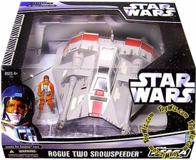 Star Wars Saga '06 Exclusive Vehicle Rebel Rogue Two Snowspeeder With Zev