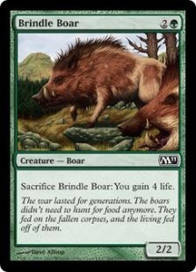 Magic the Gathering Magic 2011 (M11) Single Card Common #166 Brindle Boar