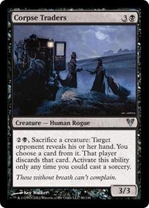 Magic the Gathering Avacyn Restored Single Card Black Uncommon #90 Corpse Traders