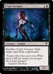 Magic the Gathering Avacyn Restored Single Card Black Common #91 Crypt Creeper