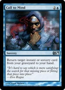 Magic the Gathering Magic 2011 (M11) Single Card Uncommon #47 Call to Mind