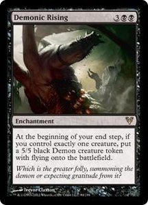 Magic the Gathering Avacyn Restored Single Card Black Rare #94 Demonic Rising