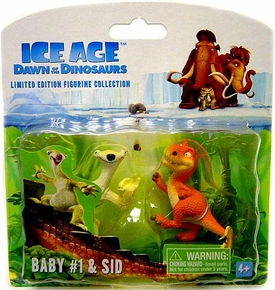 Ice Age Dawn of the Dinosaurs Limited Edition LOOSE Mini Figurine Collection 2-Pack Baby #1 & Sid