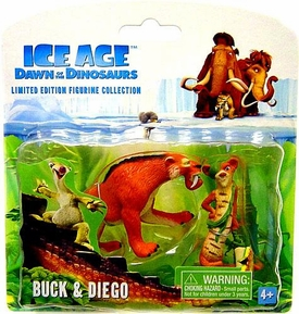 Ice Age Dawn of the Dinosaurs Limited Edition Mini Figurine Collection 2-Pack Buck & Diego