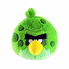 Angry Birds SPACE 5 Inch MINI Plush With Sound Green Monster Bird