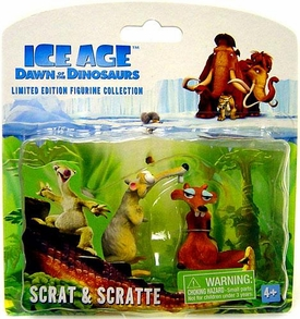 Ice Age Dawn of the Dinosaurs Limited Edition Mini Figurine Collection 2-Pack Scrat & Scratte