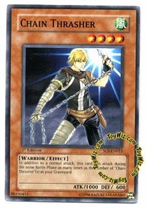 YuGiOh GX Shadow of Infinity Single Card Common SOI-EN015 Chain Thrasher