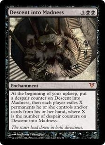 Magic the Gathering Avacyn Restored Single Card Black Mythic Rare #97 Descent into Madness