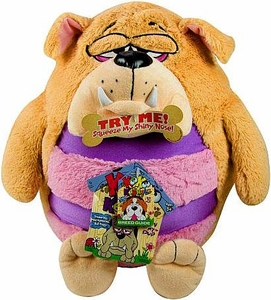 KooKoo Kennel 12 Inch Deluxe Plush Slobbering, Mild-Mannered, Bull Doggy