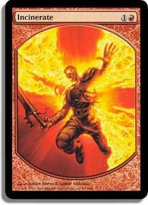 Magic the Gathering Textless Player Rewards Promo Card Incinerate [Textless Player Rewards]