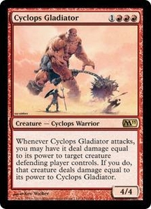 Magic the Gathering Magic 2011 (M11) Single Card Rare #131 Cyclops Gladiator