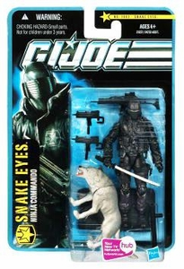 GI Joe Pursuit of Cobra 3 3/4 Inch Action Figure Snake Eyes with Timber {Desert Battle} [Ninja Commando]
