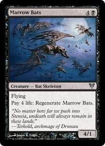 Magic the Gathering Avacyn Restored Single Card Black Uncommon #113 Marrow Bats