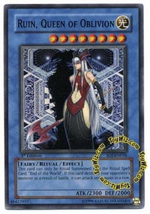 YuGiOh GX Shadow of Infinity Single Card Super Rare SOI-EN034 Ruin, Queen of Oblivion