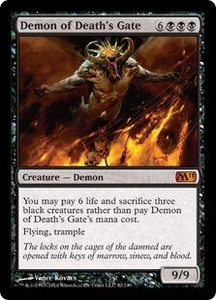 Magic the Gathering Magic 2011 (M11) Single Card Mythic Rare #92 Demon of Death's Gate
