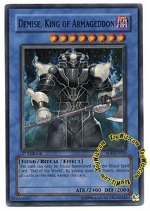YuGiOh GX Shadow of Infinity Single Card Super Rare SOI-EN035 Demise, King of Armageddon