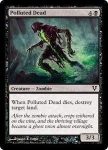 Magic the Gathering Avacyn Restored Single Card Black Common #116 Polluted Dead