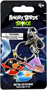 Angry Birds SPACE Metal Keychain #1 Firebomb Bird, Ice Bird & Lazer Bird