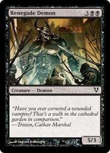 Magic the Gathering Avacyn Restored Single Card Black Common #118 Renegade Demon