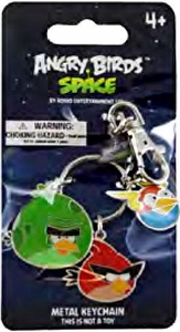 Angry Birds SPACE Metal Keychain #2 Monster Bird, Super Red Bird & Lightning Bird