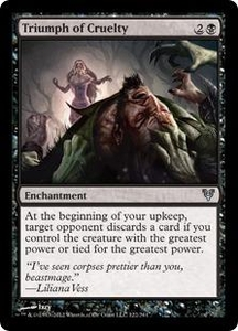 Magic the Gathering Avacyn Restored Single Card Black Uncommon #122 Triumph of Cruelty