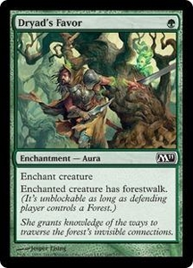 Magic the Gathering Magic 2011 (M11) Single Card Common #169 Dryad's Favor