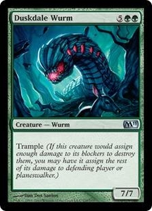 Magic the Gathering Magic 2011 (M11) Single Card Uncommon #170 Duskdale Wurm