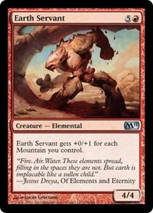 Magic the Gathering Magic 2011 (M11) Single Card Uncommon #134 Earth Servant