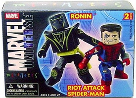 Marvel Minimates Series 12 Mini Figure 2-Pack Riot Spider-Man & Ronin