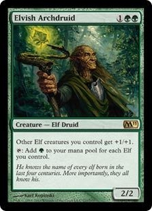 Magic the Gathering Magic 2011 (M11) Single Card Rare #171 Elvish Archdruid