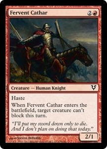 Magic the Gathering Avacyn Restored Single Card Red Common #135 Fervent Cathar