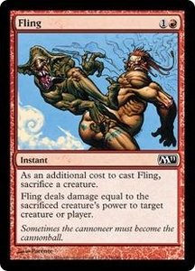 Magic the Gathering Magic 2011 (M11) Single Card Common #139 Fling